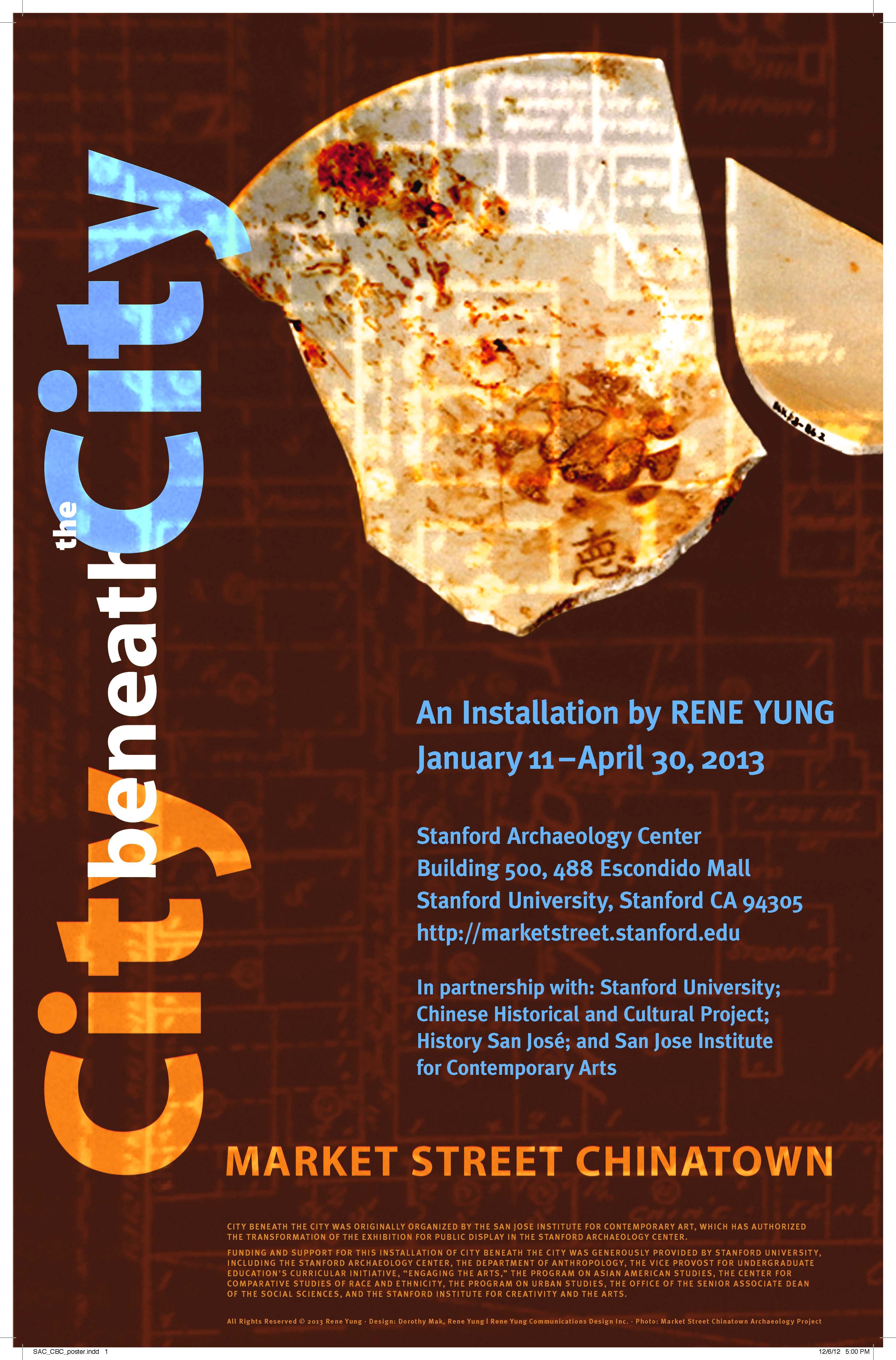 City Beneath the City Comes to the Stanford Archaeology Center ...